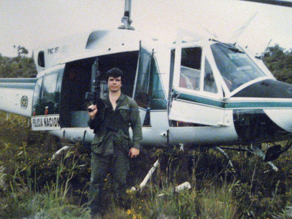 """Retired agent Michael Vigil on a search and destroy operation in the Colombian jungle. """"As an undercover, you're basically kind of an independent operator ... and it's very addictive."""" says Laura Brodie, a criminal and forensic psychologist."""