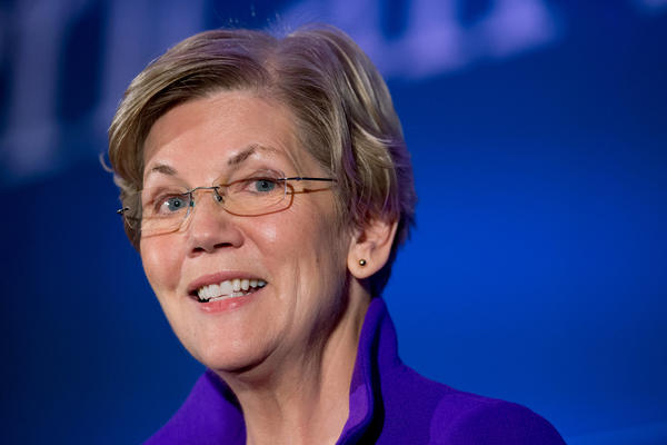 """Sen. Elizabeth Warren talked about 2016 to WBUR's Here & Now: """"What I care about is that everyone who runs for president, who runs for any national office right now, talks about this core set of issues."""""""