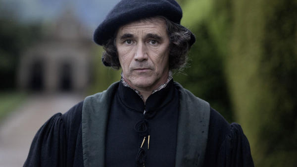"Actor Mark Rylance, seen here as Thomas Cromwell in Masterpiece's <em>Wolf Hall</em>, views Cromwell as a survivor who knows how to manipulate power to his advantage. ""He has the mind of a chess player,"" Rylance says."