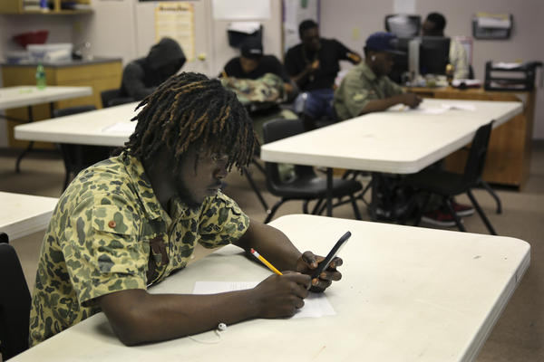 Adams says he's determined to get an education. He's found a comfort zone at the Youth Empowerment Project.