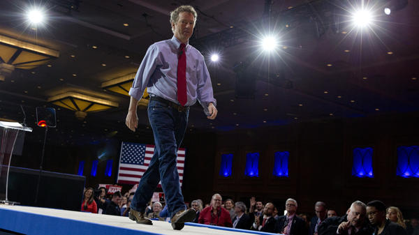 Sen. Rand Paul, R-Ky. walks from the stage after speaking during the Conservative Political Action Conference in February.
