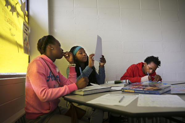 In a social studies class, students learn about the ins and outs of law and how a trial works.