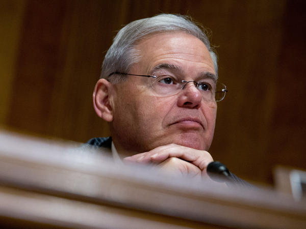 Sen. Bob Menendez on Capitol Hill Tuesday.