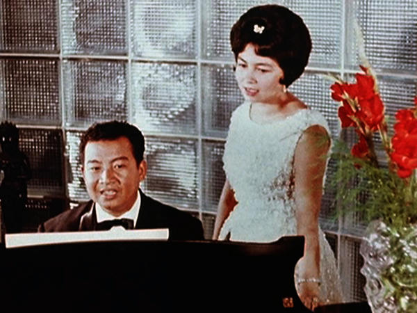 His Royal Majesty King Norodom Sihanouk, an avid musician, and Her Royal Highness Norodom Monineath.