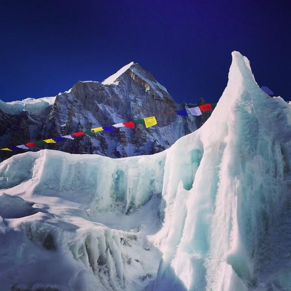 "Melissa Arnot posted this photo on Instagram of Mount Everest base camp with the note ""Hard to imagine a more beautiful place."" (Melissa Arnot)"