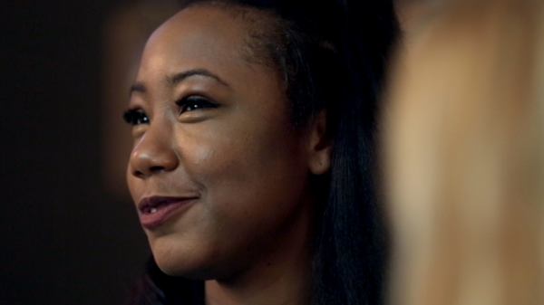 Amber London during her interview with <em>Microphone Check</em> during SXSW in March 2015.