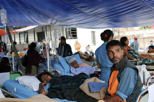 Hospitals in Kathmandu are seeing more head, bone and spinal injuries. Many Kathmandu hospitals are running on backup generators and are running out of fuel, food and supplies.