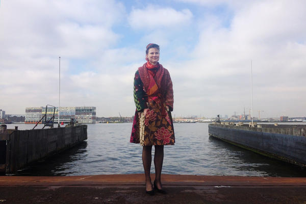 Marjam Minnesma, director and founder of the Dutch environmental group Urgenda, stands outside her offices at the harbor overlooking central Amsterdam. The group has filed a lawsuit against the government saying it has not done enough to protect citizens and must cut back more on carbon emissions.