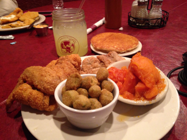 Peter had lunch at the Kountry Kitchen in Indianapolis, Indiana. (Peter O'Dowd/WBUR)
