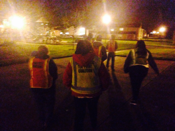 A late-night faith walk with the 10 Point Coalition through one of Indianapolis' targeted high-crime areas.  (Peter O'Dowd)