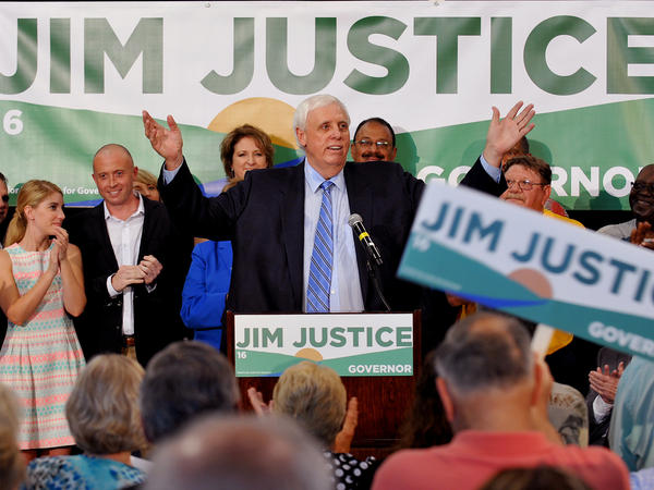 Businessman Jim Justice announces he's running for governor of West Virginia. Federal regulators say that as of March he hadn't paid more than $2 million in fines for safety violations in his coal mines.