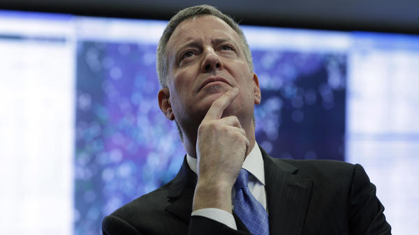 """New York City Mayor Bill de Blasio is set to step onto the national stage with his progressive """"Contract With America."""""""