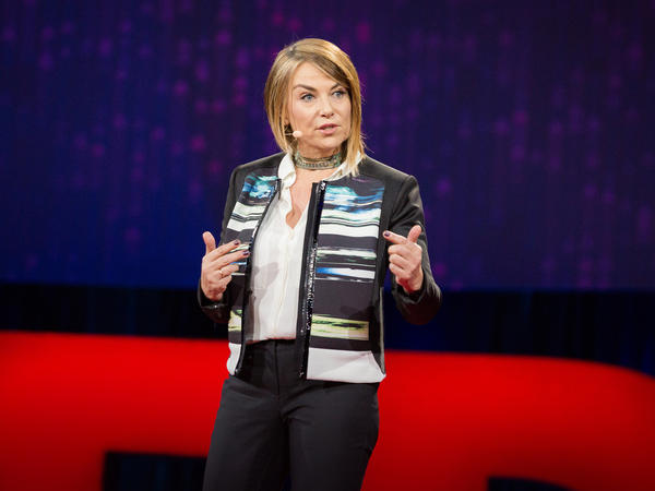 Esther Perel speaking at TED in 2015.