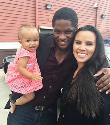"American Ky Adderley (center) with his wife, Shanna Farrar Adderley, and their daughter, Gisela Sky, live in Brazil. He says being an educated black man feels like a subversive act in Brazil. ""All the blacks that I see are in service jobs, and the darker you are, the less you are seen,"" he says. ""Your job is maybe back in the kitchen and not out waiting a table."""