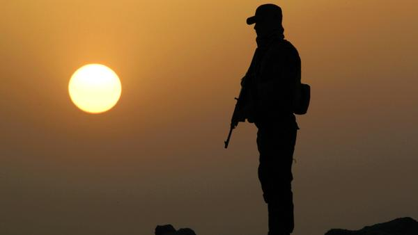 A member of Iraq's government forces battling Islamic State fighters in Anbar province earlier this month.