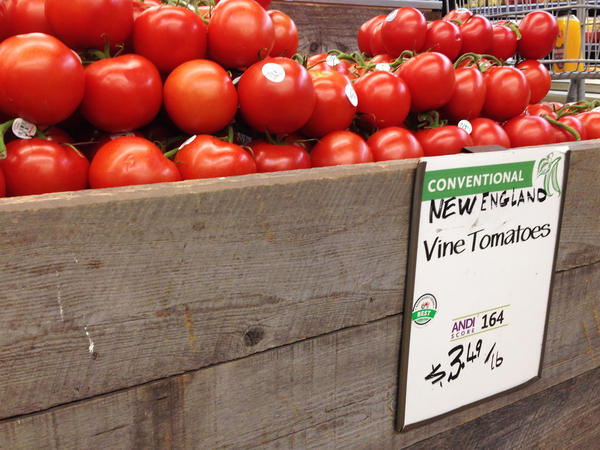 """Conventionally grown tomatoes can earn a """"Best"""" rating from Whole Foods under the company's new program. Some organic farmers are chagrined, arguing that it devalues the organic label on their products."""