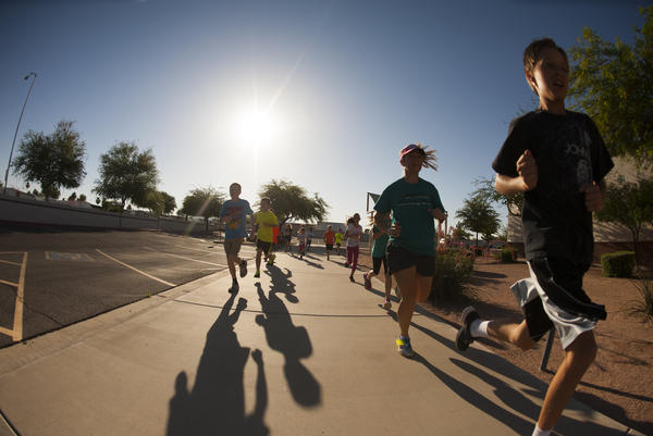 Mindy Przeor founded an after-school and summer running club in Mesa, Ariz.