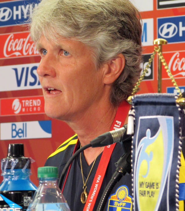 Pia Sundhage led the U.S. women to Olympic gold in 2008 and 2012 before leaving to coach the Swedish team.