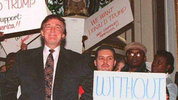 Donald Trump at the Plaza Hotel in New York in 1994.