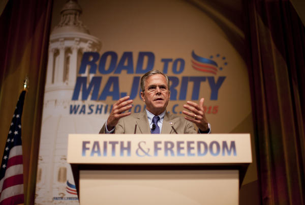 Jeb Bush speaks at the Road to Majority conference on Friday.