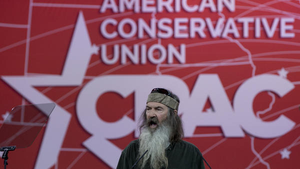 Phil Robertson of <em>Duck Dynasty</em> speaks during the Conservative Political Action Conference in National Harbor, Md., in February 2015.