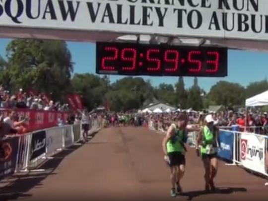 Gunhild Swanson, 70, clocked 29:59:54 in the Western States Endurance Run on Sunday.