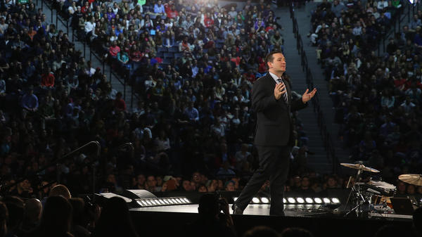Sen. Ted Cruz announcing his presidential candidacy in March at Liberty University.