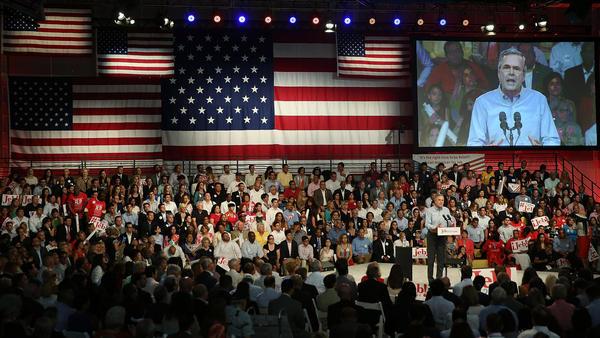 Former Florida Gov. Jeb Bush announced his candidacy at Miami-Dade College in Florida.
