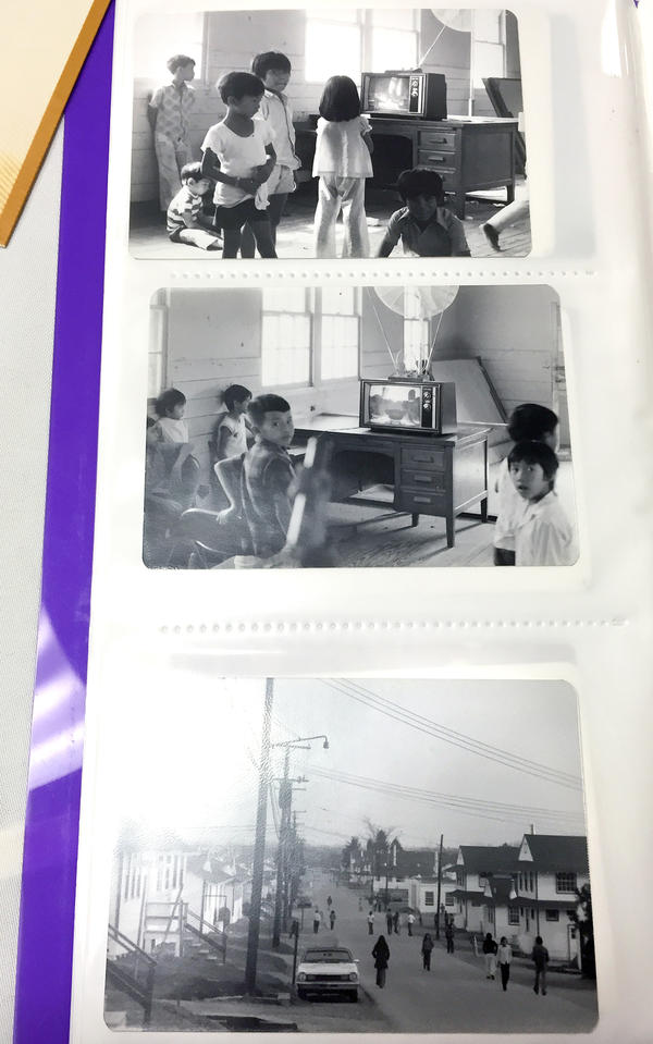 These photos of life inside the refugee camp were taken by Frank Gall, who served as a Vietnamese interpreter in the army infirmary on the base.