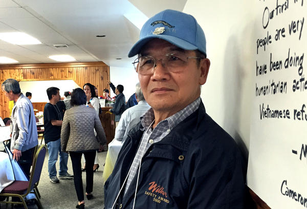 Former South Vietnamese sailor Thang Nguyen, 65, came to the camp without any family members.