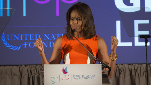 First lady Michelle Obama shares encouraging words at Girl Up Leadership Summit.