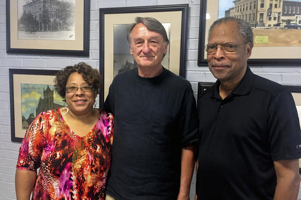 Felecia Walker, president of Haywood County-Brownsville NAACP branch; attorney Jim Emison and John Ashworth, chairman of the Elbert Williams Memorial Committee, want the Justice Department to reopen investigation of Williams' 1940 death.