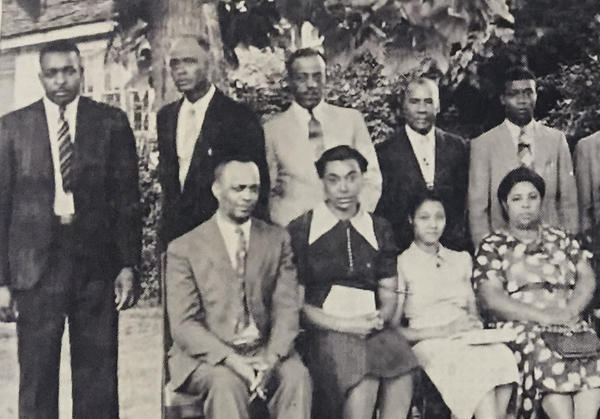 Elbert Williams (far left), pictured with other members of a Haywood County NAACP chapter. Following Wiilliams' death, the chapter became inactive for two decades.