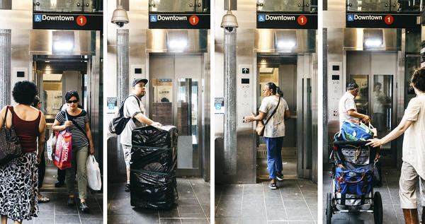 The elevator at the Dyckman Street Subway Station in Inwood, Manhattan, helps people of all abilities reach the platform.