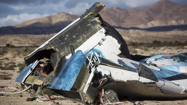 SpaceShipTwo crashed in the Mojave Desert in California on Oct. 31. The co-pilot was killed.
