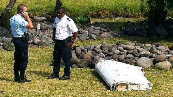 A piece of a wing, apparently from a Boeing 777, has been found on Reunion, an island in the Indian Ocean. It's not clear yet whether the debris is from the Malaysia Airlines jet that disappeared from radar during a flight last year.