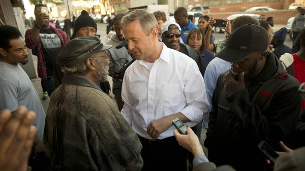 In April,  O'Malley met with Baltimore residents during unrest over the death of a black man, Freddie Gray, in police custody. O'Malley's zero-tolerance policing policy has been criticized.
