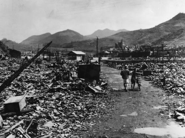 The ruins of Nagasaki after the dropping of the atomic bomb.