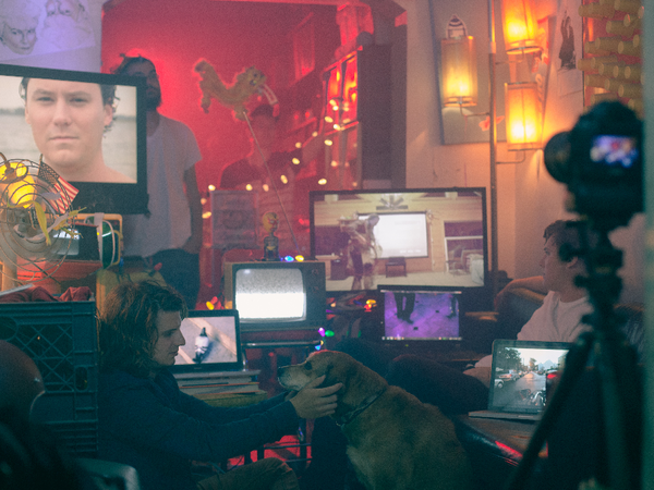 The Front Bottoms behind the scenes of their latest video, 'Laugh Til I Cry.'