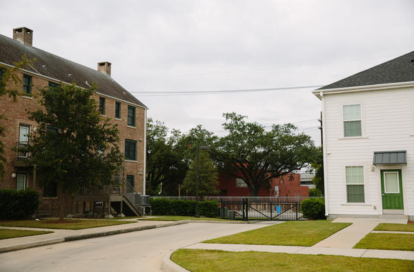 The Harmony Oaks housing development was built on the site of the former C.J. Peete housing project.