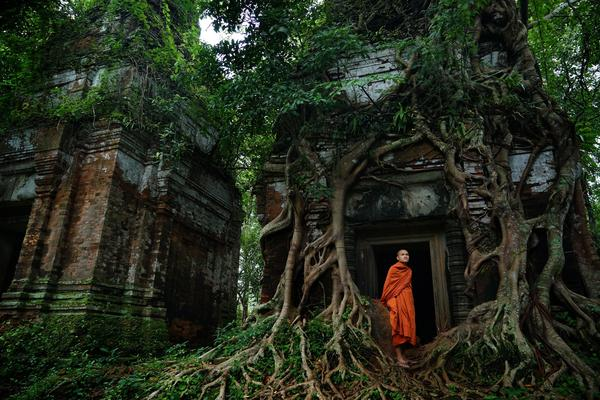 Ruins of a temple in Siem Reap, Cambodia.