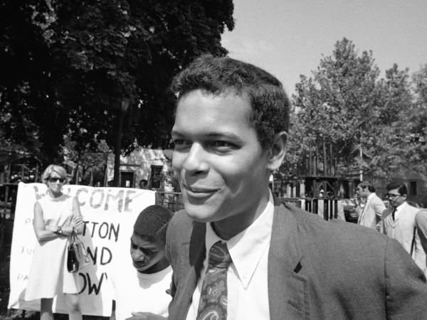 Julian Bond on the streets of the Bedford-Stuyvesant section of Brooklyn in 1968. The civil rights activist has died at the age of 75.