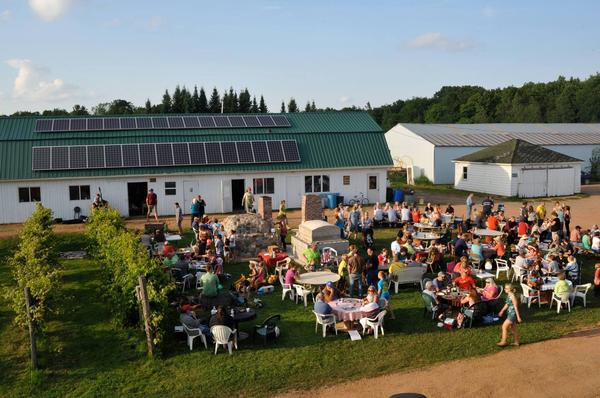 Pizza night on the Stoney Acres Farm in Athens, Wis.