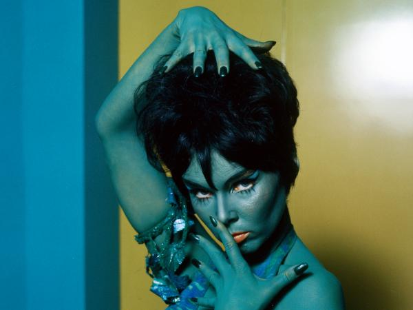 """Yvonne Craig appears in a publicity photo for the TV series <em>Star Trek</em> in 1969. She played the role of Orion Marta in the episode titled """"Whom Gods Destroy."""""""