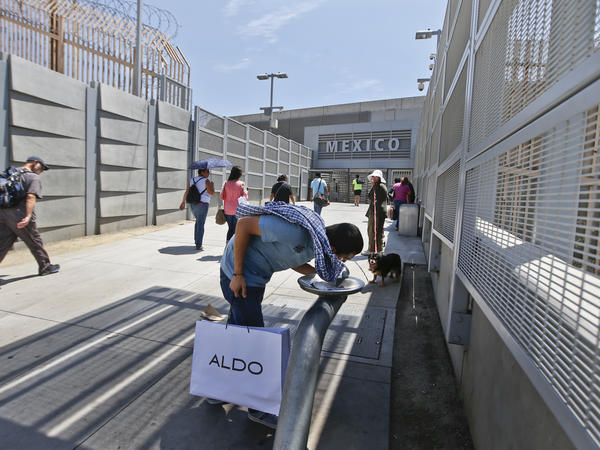 Pedestrians going to Tijuana from San Diego must now choose between a line for Mexicans, who get waved through the border crossing, and a line for foreigners, who must first show a passport.