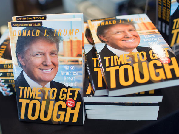 Donald Trump's book <em>Time To Get Tough</em> was on sale at a campaign event in Dubuque, Iowa, last week. September could be a time for Trump's campaign to prove itself.
