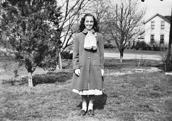 """Joyce Carol Oates, pictured above on Easter, 1949. It is strange, she says, to live so long that you are older than your own parents were when they died. She uses the word """"vertiginous"""" to describe the dizzying sensation of looking back on your life from a distance you can't believe you've traveled."""