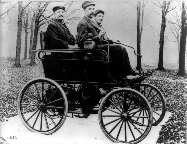 An early Oldsmobile, 1897.