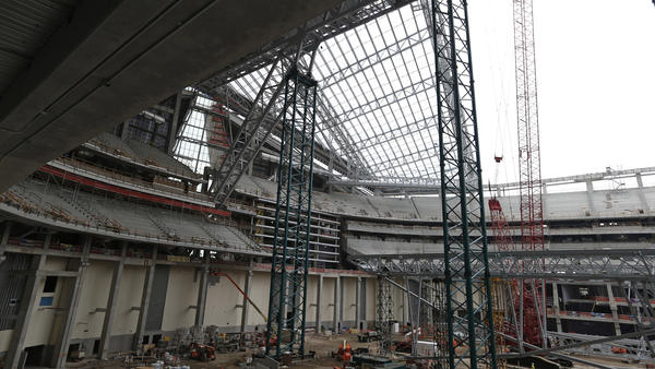 The public share to pay for construction of a new Minnesota Vikings football stadium is reportedly $498 million.