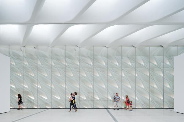 "With skylights and the ""interior veil,"" light streams into The Broad's third floor galleries."